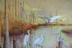 Backwater-Egrets